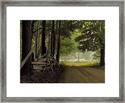 Sugarbush Road Framed Print by Michael Swanson