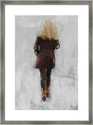 Suicide Blonde Framed Print by Steve K