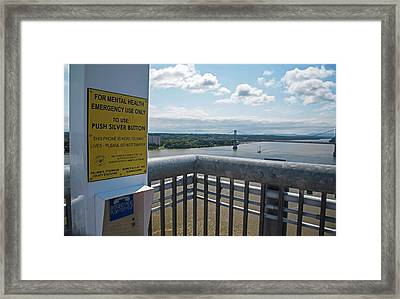 Suicide Prevention Telephone Framed Print by Jim West