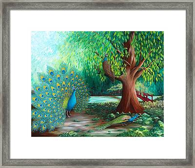 Suitors Framed Print by Katherine Young-Beck