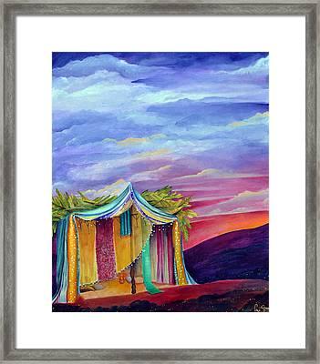 Sukkah Framed Print by Dawnstarstudios