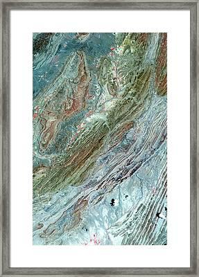 Sulaiman Folds Framed Print by Nasa/gsfc/meti/ersdac/jaros And U.s./japan Aster Science Team