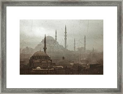 Suleymaniye Mosque And Rustem Pasha Mosque Framed Print by Ayhan Altun