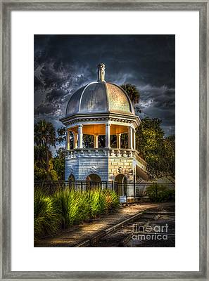 Sulfur Springs Gazebo Framed Print by Marvin Spates