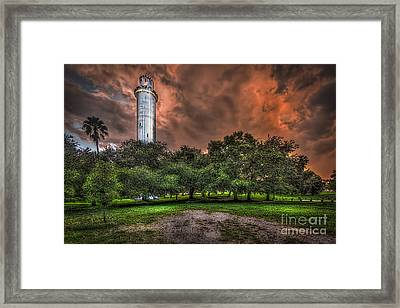 Sulfur Springs Tower Framed Print by Marvin Spates
