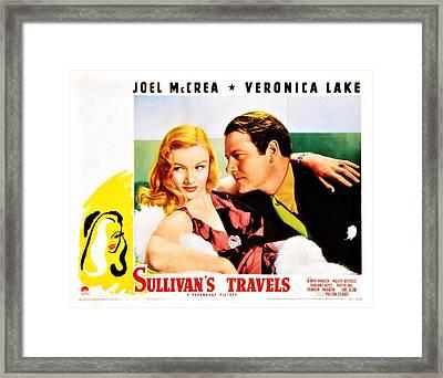 Sullivans Travels, Us Lobbycard Framed Print by Everett