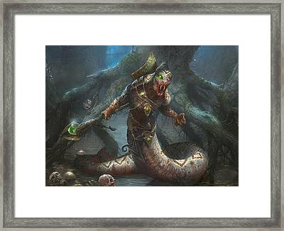 Sultai Skullkeeper Framed Print by Ryan Barger