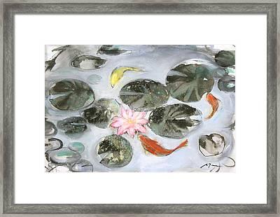 Sumie No.12 Triple Koi Framed Print by Sumiyo Toribe