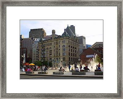 Summer Afternoon In Boston Framed Print by Dora Sofia Caputo Photographic Art and Design