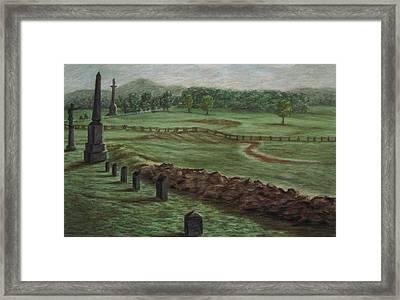 Summer At Cemetary Ridge Gettysburg Framed Print by Joann Renner