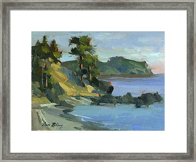 Summer At Lopez Island Framed Print by Diane McClary