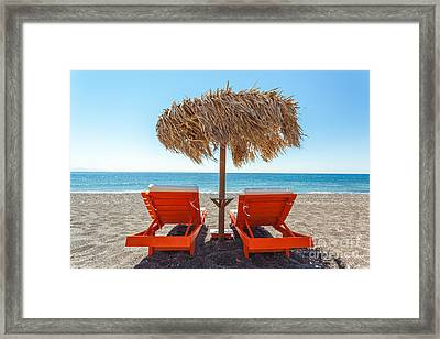 Summer At The Beach Framed Print by Matteo Colombo