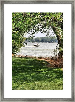 Summer At The Lake Framed Print by Dan Sproul