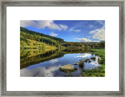 Summer At The Lake Framed Print by Ian Mitchell