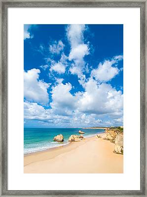 Summer Beach Algarve Portugal Framed Print by Amanda Elwell