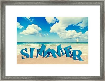 Summer Beach Framed Print by Amanda And Christopher Elwell