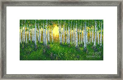 Summer Birch 24 X 48 Framed Print by Michael Swanson