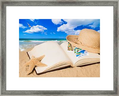 Summer Book Framed Print by Amanda And Christopher Elwell