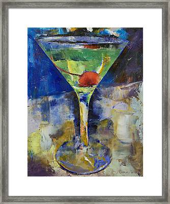 Summer Breeze Martini Framed Print by Michael Creese