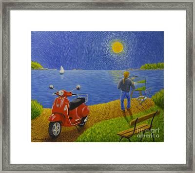 Summer Day At The Beach Framed Print by Veikko Suikkanen