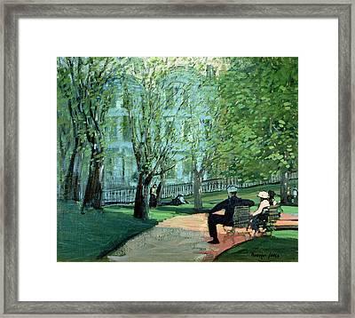 Summer Day Boston Public Garden Framed Print by George Luks