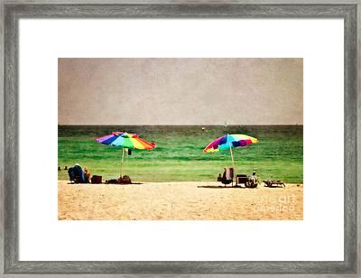 Summer Days At The Beach Framed Print by Scott Pellegrin