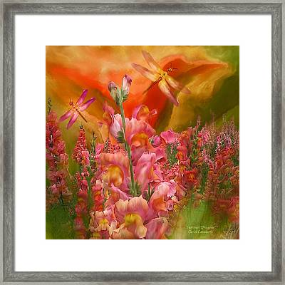 Summer Dragons - Square Framed Print by Carol Cavalaris