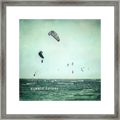 Summer Dreams Kite Surf Framed Print by Guido Montanes Castillo