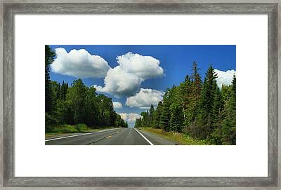 Summer Drive In Northern Michigan Framed Print by Dan Sproul
