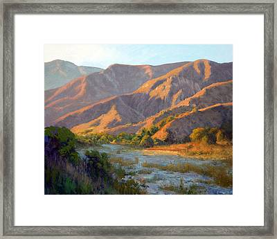 Summer Evening Eaton Canyon Framed Print by Armand Cabrera