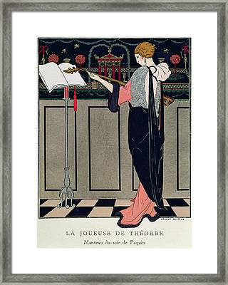 Summer Evening Wear From Art Gout Beaute Framed Print by Georges Barbier