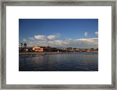Summer Evenings In Santa Cruz Framed Print by Laurie Search