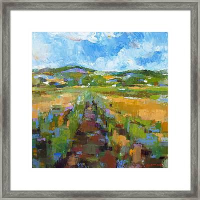 Summer Field 1 Framed Print by Becky Kim