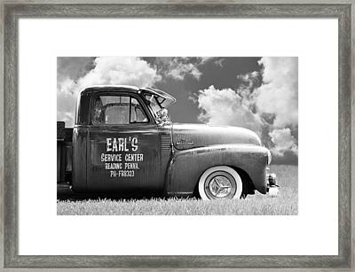 Summer Field Pickup Framed Print by Laura Fasulo