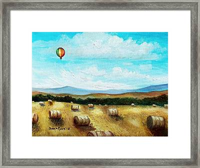 Summer Flight 3 Framed Print by Shana Rowe Jackson