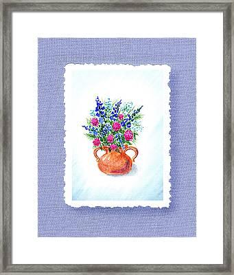 Summer Flowers Bouquet Botanical Impressionism Framed Print by Irina Sztukowski