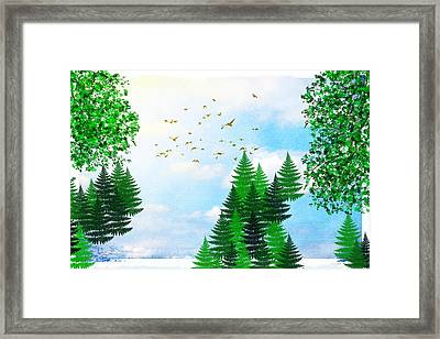 Summer Four Seasons Art Series Framed Print by Christina Rollo