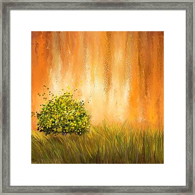 Summer- Four Seasons Wall Art Framed Print by Lourry Legarde