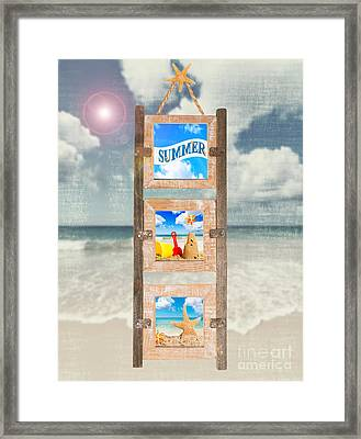 Summer Frame Framed Print by Amanda Elwell