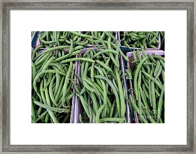 Summer Green Beans Framed Print by Kathie McCurdy
