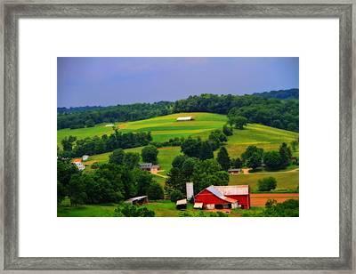 Summer Green In Berlin Ohio Framed Print by Dan Sproul