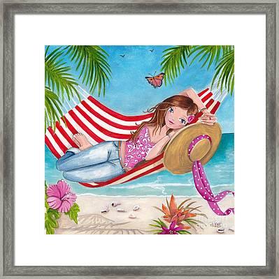 Summer Hammock Framed Print by Caroline Bonne-Muller