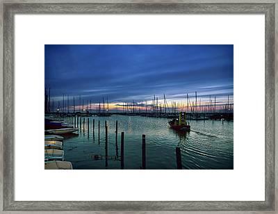 Summer Harbor Framed Print by EXparte SE