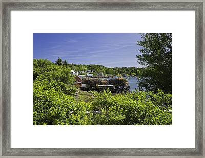 Summer In South Bristol On The Coast Of Maine Framed Print by Keith Webber Jr