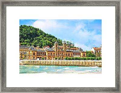 Summer In St Sebastian Framed Print by Mary Machare