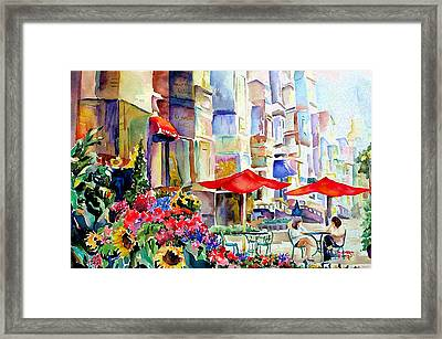 Summer In The City Framed Print by Barbara Jung