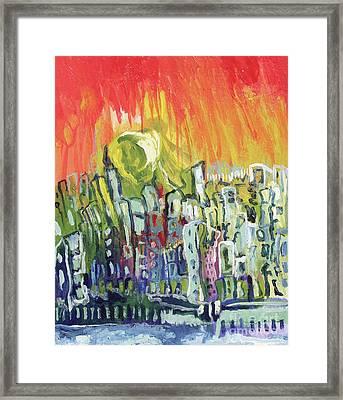 Summer In The City Framed Print by Kim Chigi