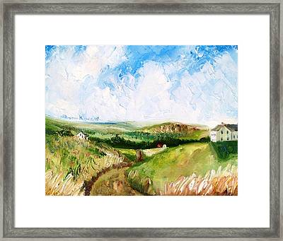 Summer In The Dale  Framed Print by Shana Rowe Jackson