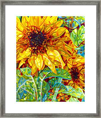 Summer In The Garden Framed Print by Mandy Budan