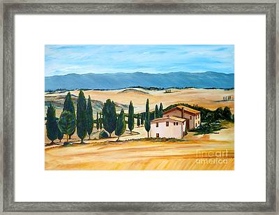 Summer In Tuscany Framed Print by Christine Huwer